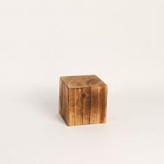 Bloc de pr sentation forme cube en bois brut 8x8x8cm - Cube bois brut ...