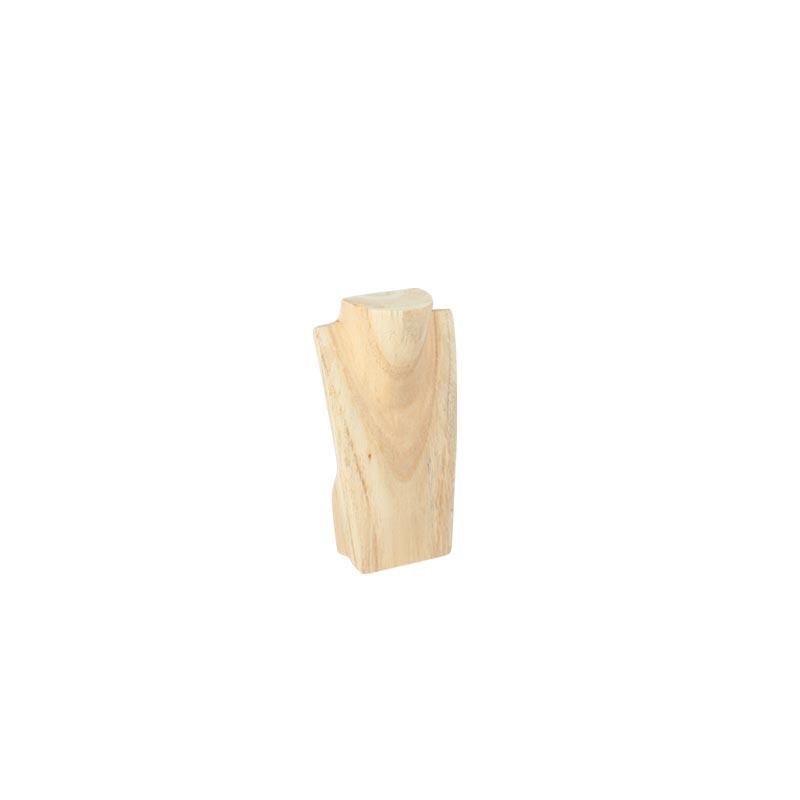 buste en bois naturel pour collier h 20 cm selfor paris. Black Bedroom Furniture Sets. Home Design Ideas