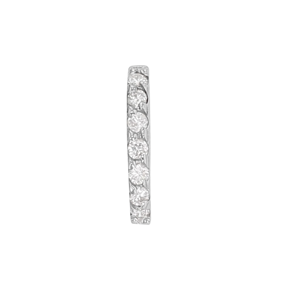 Bélière Or gris 750/1000 pavées de 7 diamants 0,06 ct