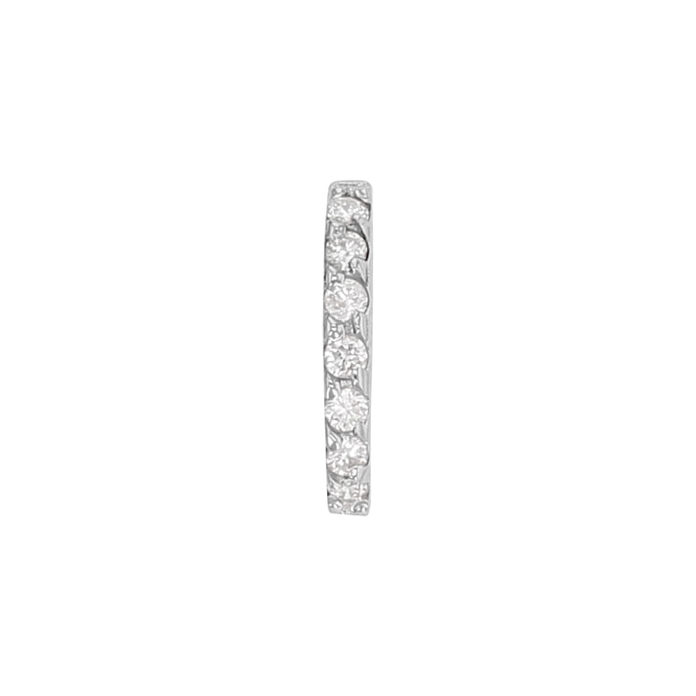 Bélière Or gris 375/1000 pavées de 7 diamants 0,06 ct