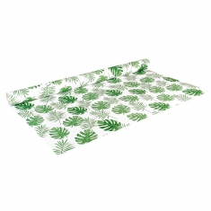 Papiers cadeau vert et blanc Collection Jungle