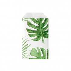 Sachets cadeau vert et blanc Collection Jungle