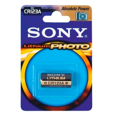 Pile lithium photo CR123A Sony vendue sous blister