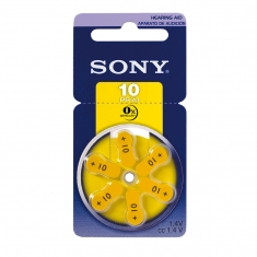 Piles auditives Sony 10 PR70 (x6) vendues sous blister