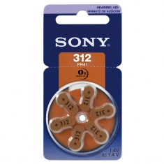 Piles auditives Sony 312 PR41 (x6) vendues sous blister