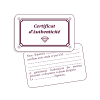 Certificat d\\\'authenticité simple
