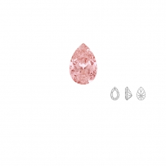 Pierres Oxyde de zirconium Swarovski - poire, couleur Fancy Morganite