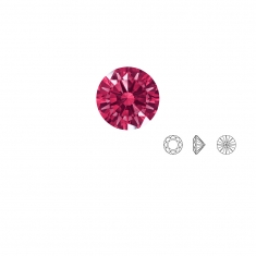 Pierres Oxyde de zirconium Swarovski - rond, couleur Red Dark