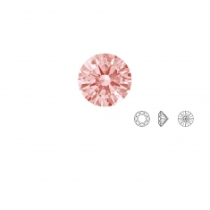 Pierres Oxyde de zirconium Swarovski - rond, couleur Fancy Morganite