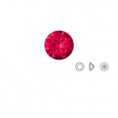 Rubis Swarovski - rond, couleur Top Ruby