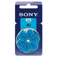 Piles auditives Sony 675 PR44 (x6) vendues sous blister
