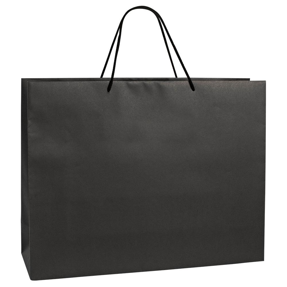 11f1dc07c45e Luxury black kraft paper boutique bag with matching cotton cord handles -  200g