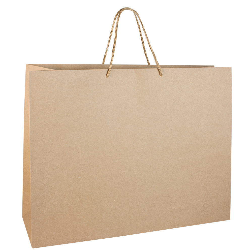 Luxury Large Kraft Paper Carrier Bag With Rope Handles 175g