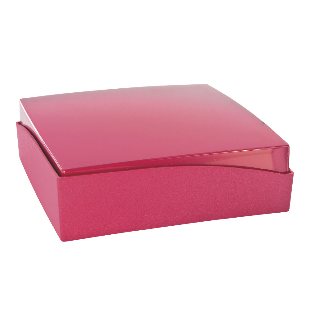 Matt and glossy plastic jewellery presentation box