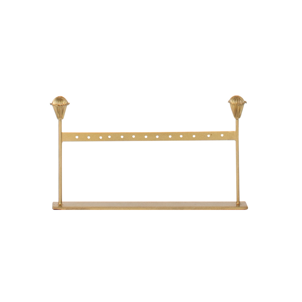 Metal Earring Display Stand With Gold Patina Finish