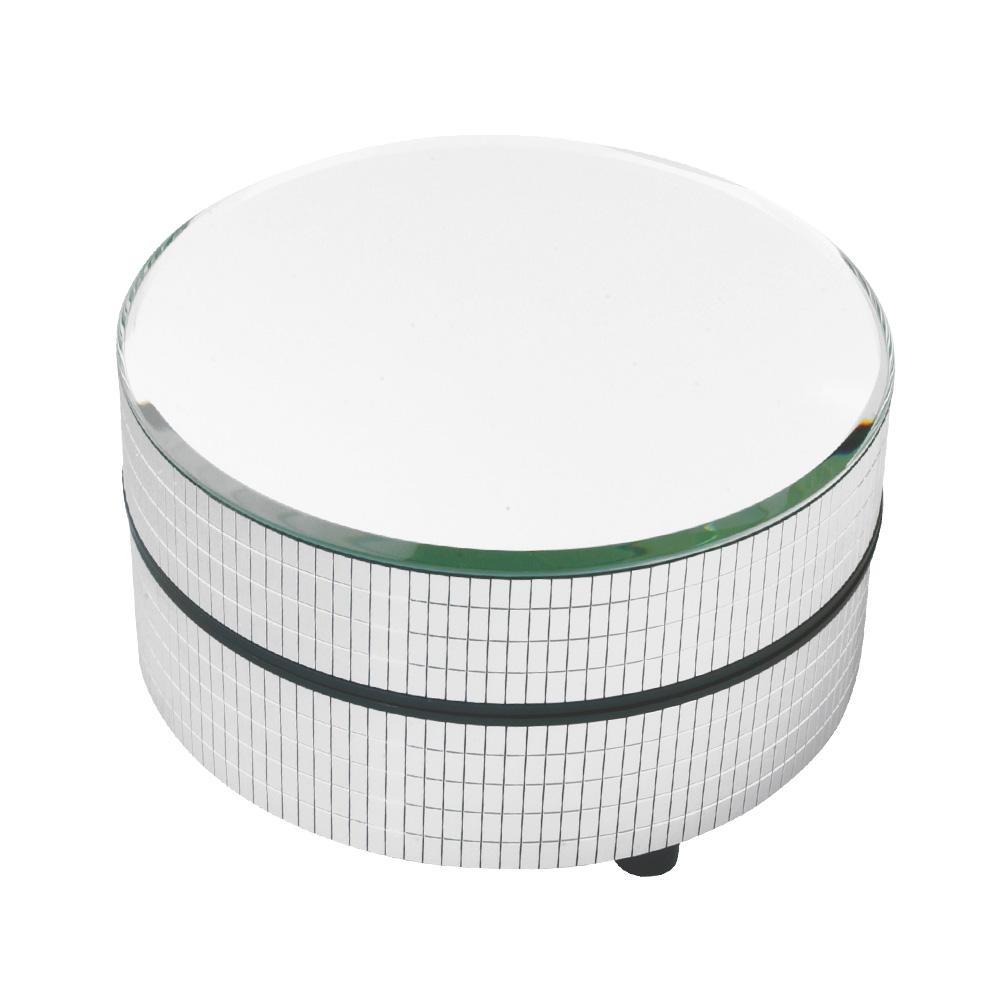 plateau tournant miroir argent motoris selfor paris. Black Bedroom Furniture Sets. Home Design Ideas