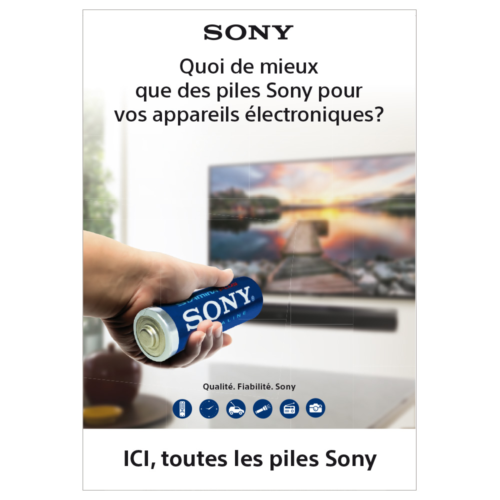 poster mural pour magasin piles sony selfor paris. Black Bedroom Furniture Sets. Home Design Ideas