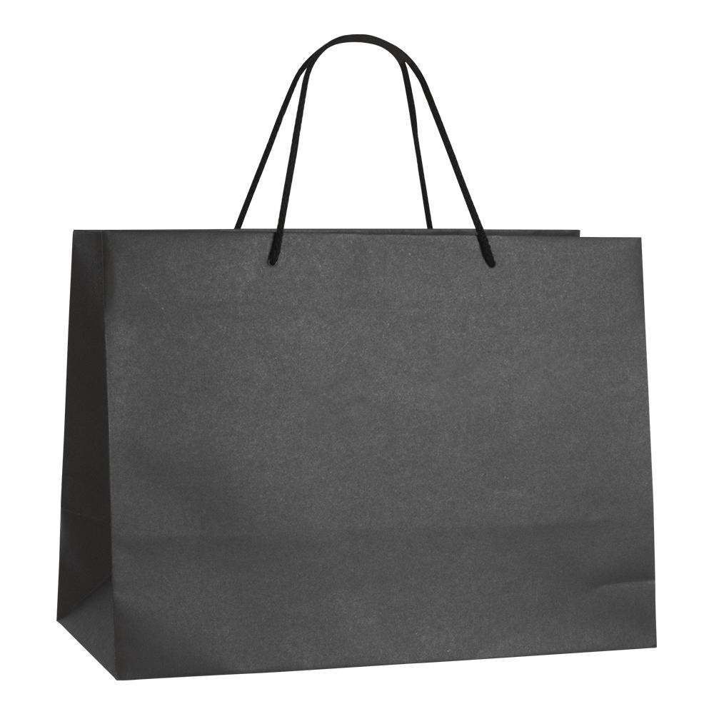 sac papier kraft luxe noir 39 18x29cm poign es cordon coton 200g selfor paris. Black Bedroom Furniture Sets. Home Design Ideas