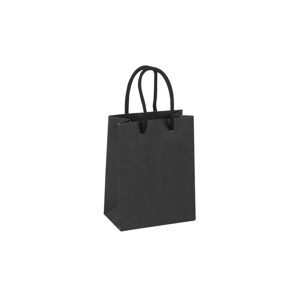 sacs papier kraft luxe noir poign es cordelettes 200 g selfor paris. Black Bedroom Furniture Sets. Home Design Ideas