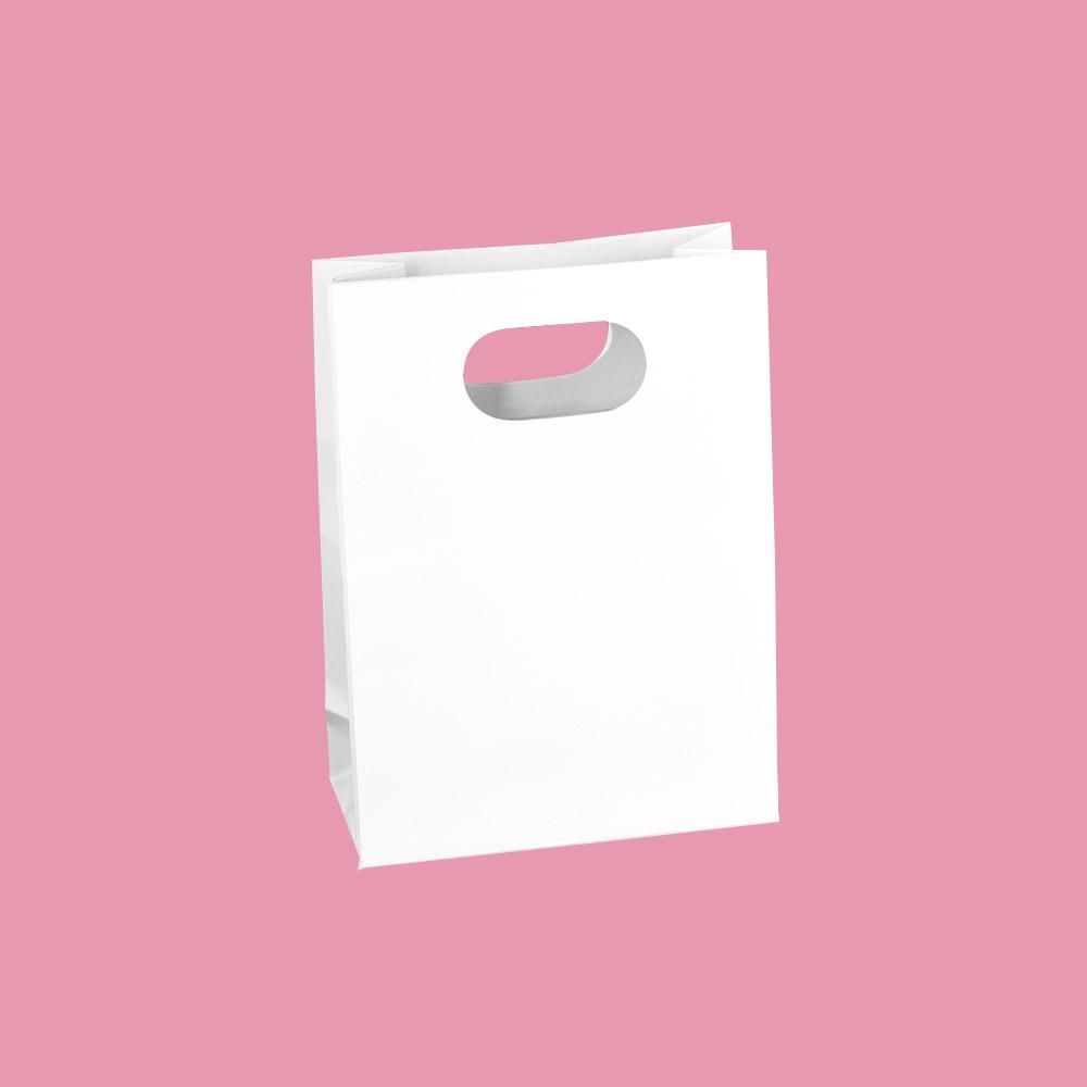 sacs papier laqu poign es d coup es renforc es selfor paris. Black Bedroom Furniture Sets. Home Design Ideas