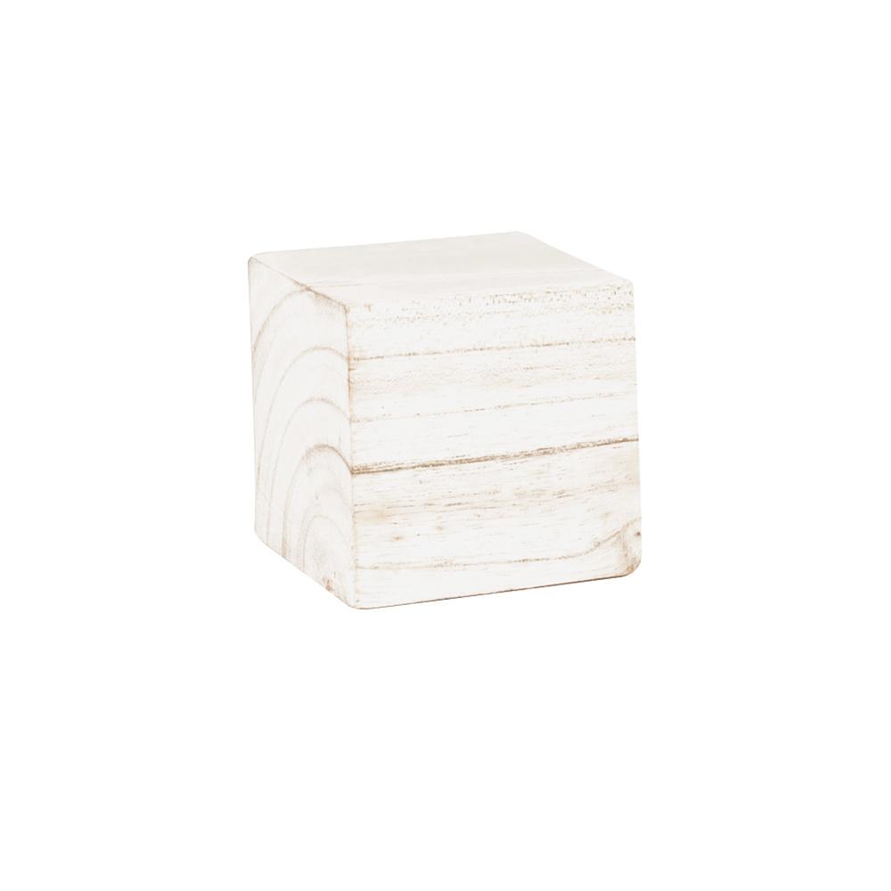 support de pr sentation en bois blanc patin 8x8 cm selfor paris. Black Bedroom Furniture Sets. Home Design Ideas