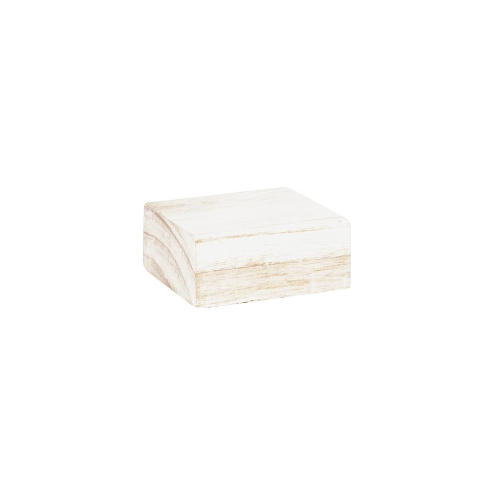 support de pr sentation en bois blanc patin 8x8xh3 5 cm selfor paris. Black Bedroom Furniture Sets. Home Design Ideas