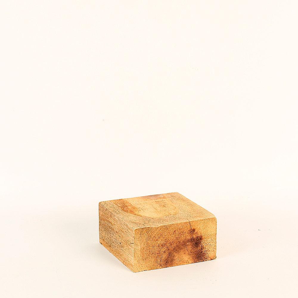 support de pr sentation en bois brut 10x10x5cm selfor paris. Black Bedroom Furniture Sets. Home Design Ideas