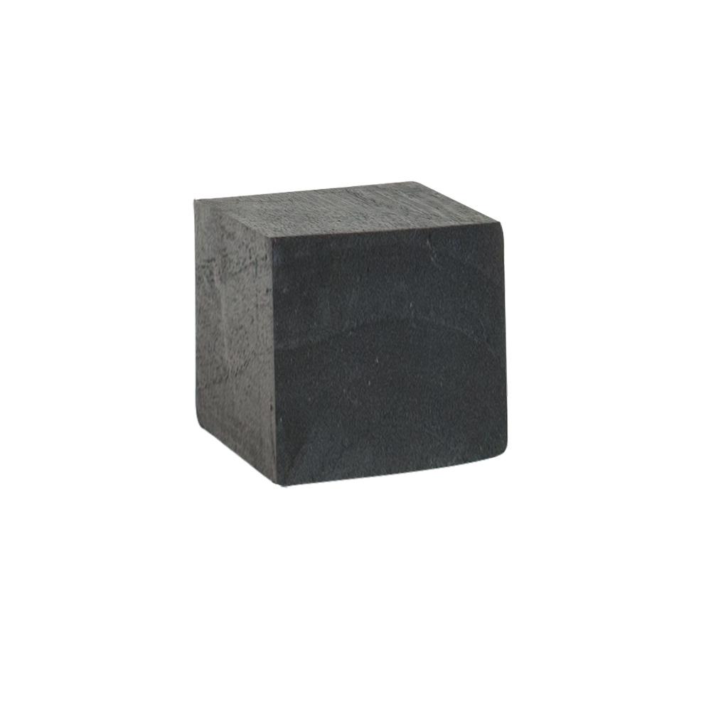 support de pr sentation en bois peint noir 8x8 cm selfor paris. Black Bedroom Furniture Sets. Home Design Ideas