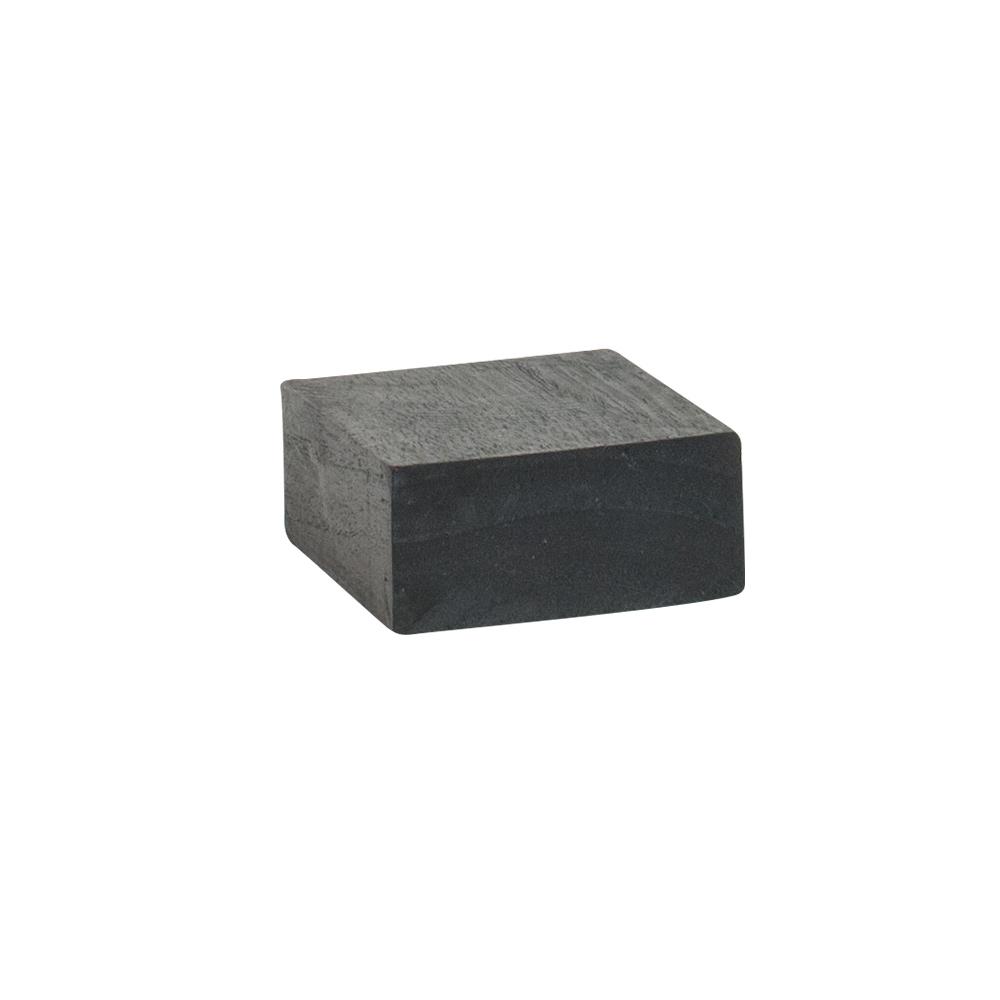 support de pr sentation en bois peint noir 8x8xh3 5 cm selfor paris. Black Bedroom Furniture Sets. Home Design Ideas