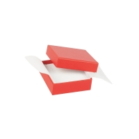 Satin-finish card jewellery presentation boxes with man-made foam insert and non-woven flaps