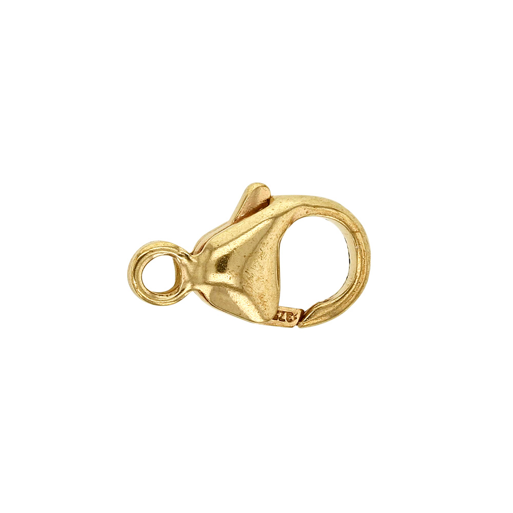 9 ct trigger catch with fixed ring, 11mm