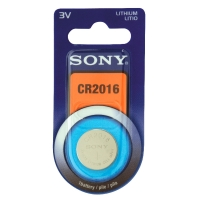 Individual blister with Sony CR2016 lithium button cell battery