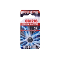 Maxell CR1216 lithium battery - individual bllister