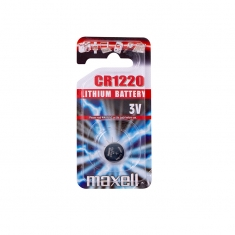 Maxell CR1220 lithium battery - individual blister pack
