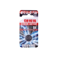 Maxell CR1616 lithium battery - individual blister pack