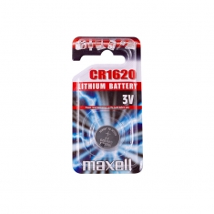 Maxell CR1620 lithium battery - individual blister pack