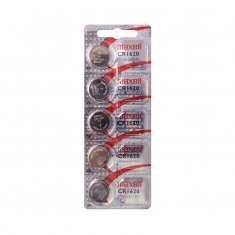 Maxell CR1620 lithium battery - pack of 5