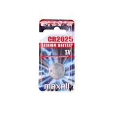 Maxell CR2025 lithium battery - individual blister pack