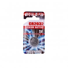 Maxell CR2032 lithium battery - individual blister