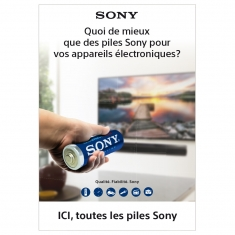 Poster mural pour magasin piles SONY