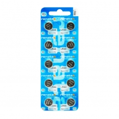 Renata LR44 alkaline coin cell batteries - pack of 10