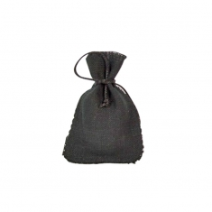 Black linen pouches (packs of 5)