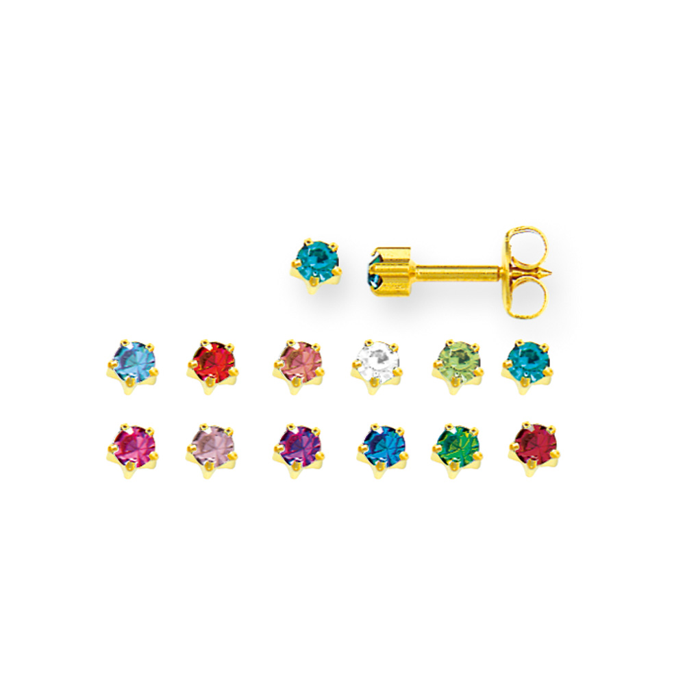 Caflon nickel free metal ear-piercing stud earrings