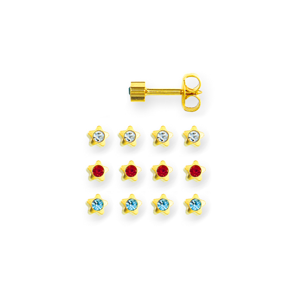 Caflon nickel-free metal piercing stud earrings