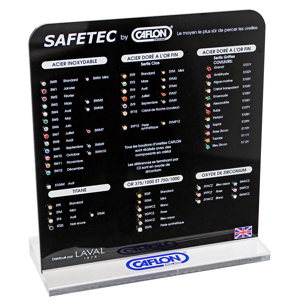 Caflon Safetec® Gold display (in French)