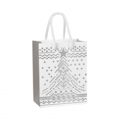 Christmas tree matt paper carrier bag - Scandinavia collection