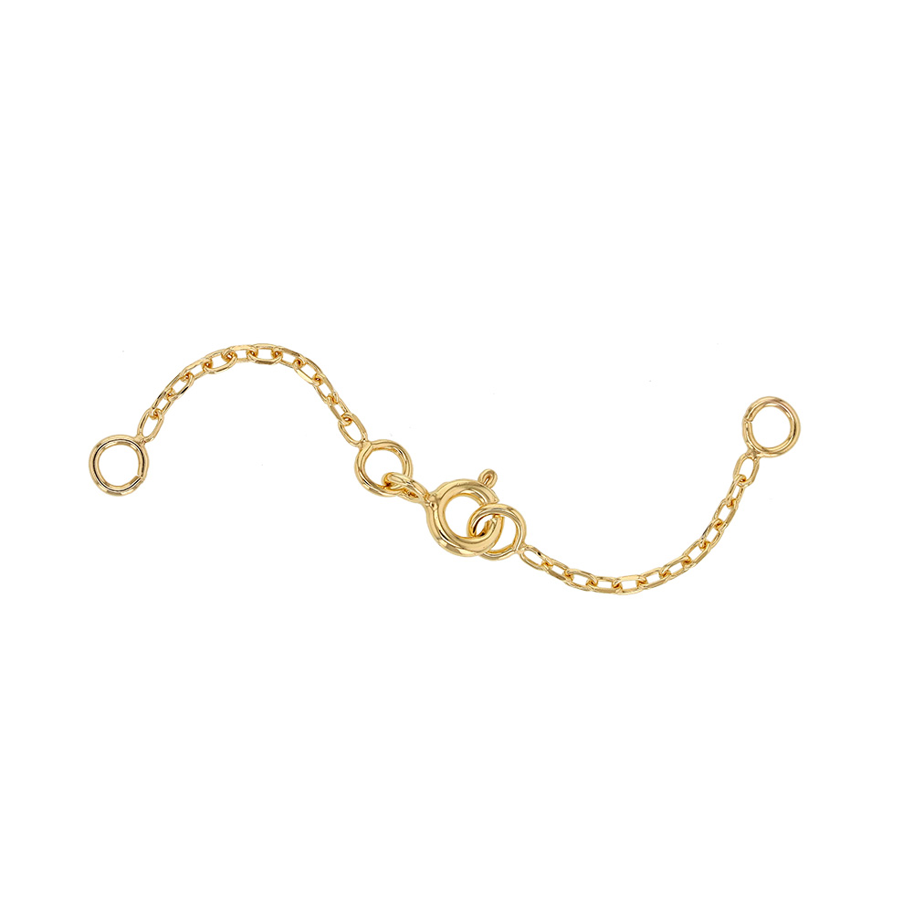 9ct gold double safety chain - trace chain