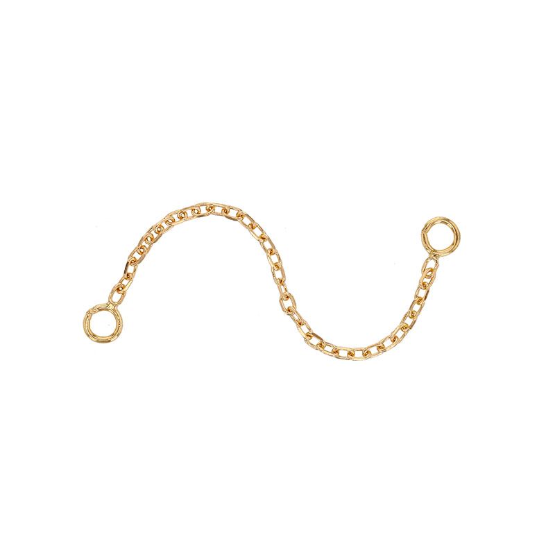 18ct gold single safety chain - trace chain