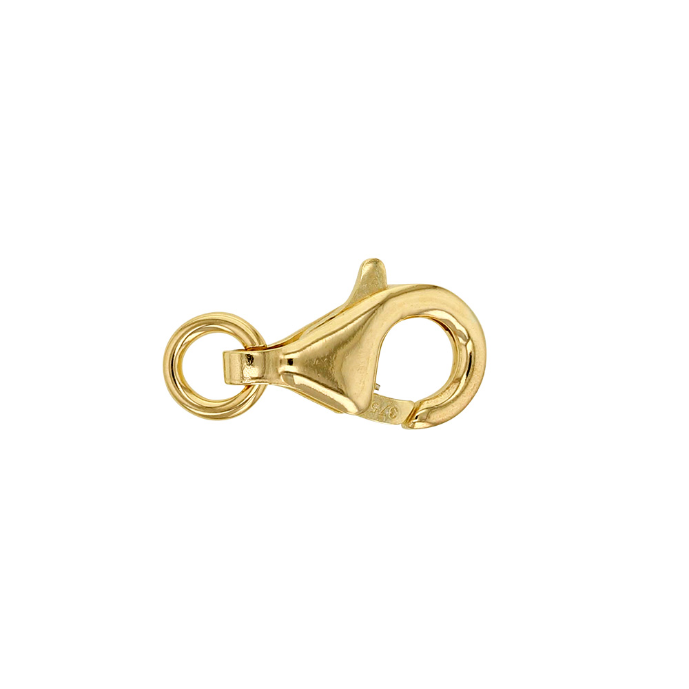9ct gold trigger catch 13mm with jump ring