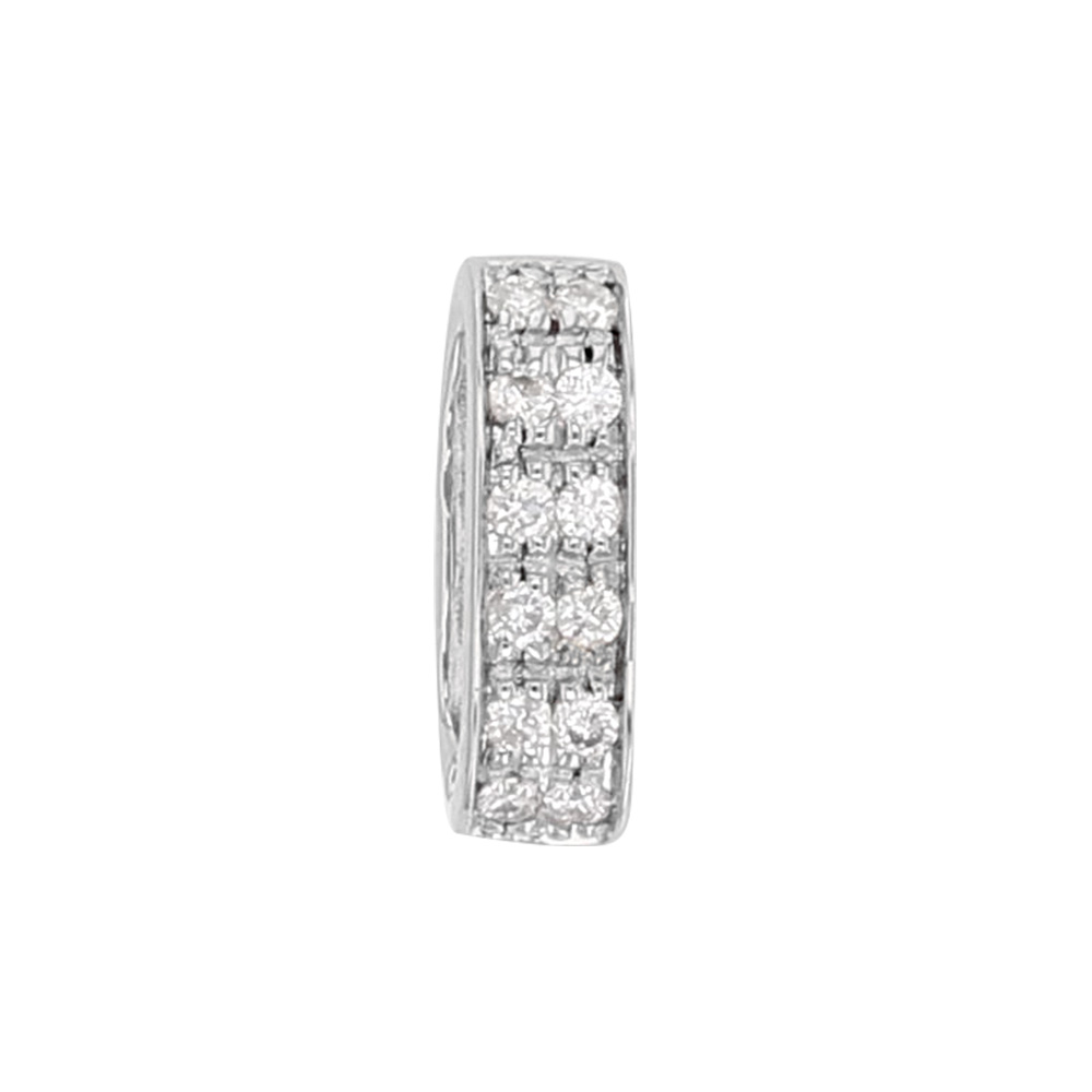 18ct white gold bail, studded with 2 rows of 6 diamonds (0.8ct) 10 x 3 mm